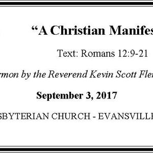 A Christian Manifesto (Audio)