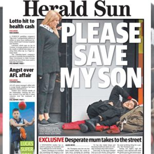 A mother sleeping on Melbourne streets to keep vigil over her drug addict son talks with Tony Jones