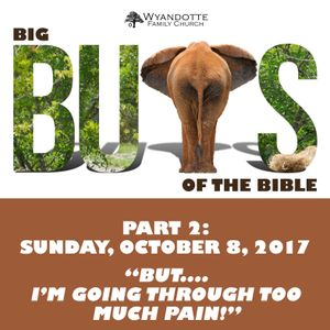"""Big Buts of the Bible Part 2: """"But...I'm Going Through Too Much Pain."""""""