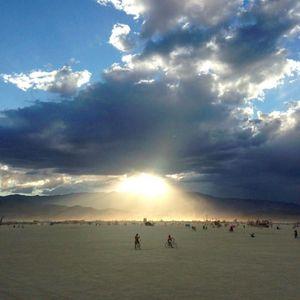 jae b2b Overdubbed: Sunrise at the Trash Fence Burning Man 2016