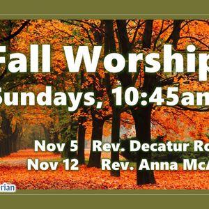 11-05-17, Fall Worship, Week 1 of 2, Ordinary People