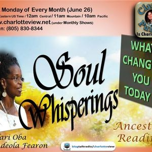 Jun 26 ~ Charlotte View: Soul Whisperings with Adeola Fearon (Charlotte, NC)