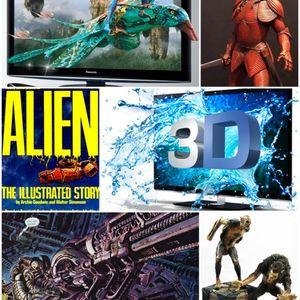 GeekFest Rants Episode 311- 3D TV - Dracula Figures - Alien-Aliens Comics