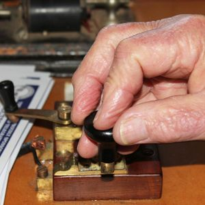 Tapping into morse code week and riding on a cane train