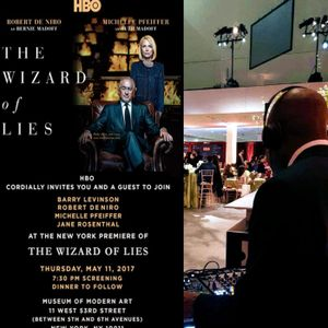 Qool DJ Marv LIVE at the HBO NYC Premiere of Wizard of Lies at MoMA on May 11 2017