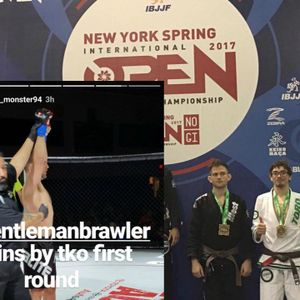 James Quigg, winner at Strike Off, Josh Murdock, bronze medalist at NY Open