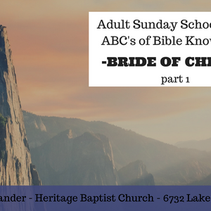 ABCs The Bride of Christ