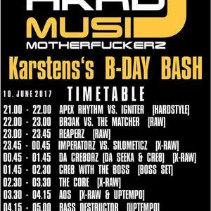 HardMusicMotherFuckerz ´Karsten´s B-Day Bash´ DaCre8orz - Liveset - (10.06.2017)