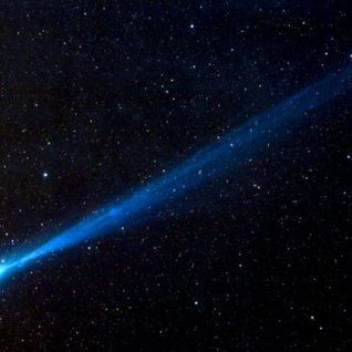 light blue comet