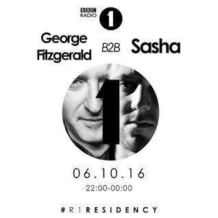 George FitzGerald B2B Sasha - BBC Radio 1 Residency (06/10/2016)