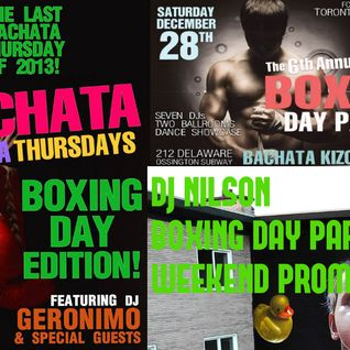 DJ NILSON BOXING DAY PARTY WEEKEND PROMO DURO