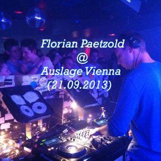 Florian Paetzold @ Club Auslage Vienna (21.09.2013)