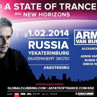 Alexander Popov - Live @ A State of Trance 650 (Yekaterinburg, Russia) - 01.02.2014