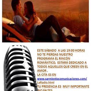 """Programa """"El Rincón Romántico"""", 13 de diciembre de 2014."""