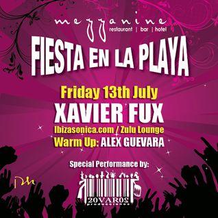 Xavier Fux at Fiesta en la Playa @ Mezzinine, Tulum - 13/7/12