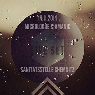 Micrologue & Amanic @ Sanitaetsstelle Chemnitz (LIVE / DJ-Set)