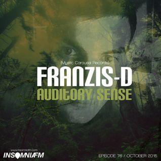 Franzis-D - Auditory Sense 076 @ InsomniaFm - Oct 08, 2015