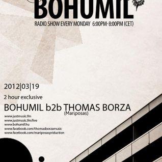 2012-03-19 A'la Bohumil@Justmusic.fm Thomas Borza b2b Bohumil