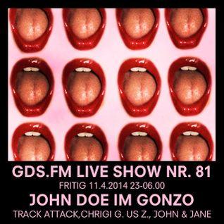 GDS.FM SHOW Nr. 81 JOHN DOE LIVE IM GONZO MIT CHRIGI G. US Z. & JOHN DOE TEIL 2/2