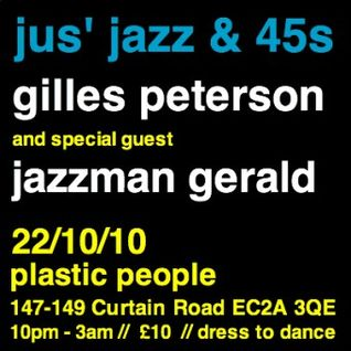 Gilles' Jus Jazz & 45′s PP Warm Up Mix