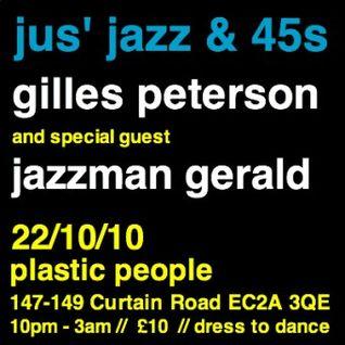 Gilles' Jus Jazz & 45′s PP Warm Up Mix