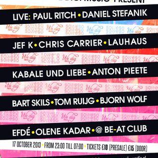 Daniel Stefanik @ ADE 2013 - Soweso & We Dig. Music (17-10-2013)