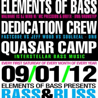 Dj Nero VS Malware w/MC Precision LIVE @ Bass & Bliss - 09/01/12