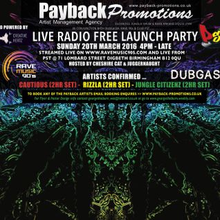 JUNGLE CITIZENZ & CHESHIRE CAT - PAYBACK LIVE RADIO - LAUNCH PARTY-CLUB PST - 20/03/16
