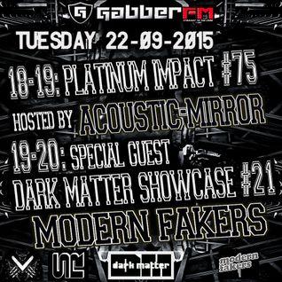 The Antemyst - Platinum Impact 75 (Gabber.fm) 22-09-2015