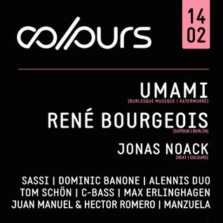 Dominic Banone @ COLOURS 14.02.2015 (Tanzhaus West, Frankfurt)