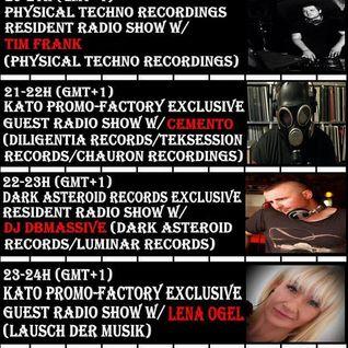 20160802 21-22h (gmt+1) Kato PrOmO-Factory Exclusive Guest Radio Show w/CementO (Diligentia Records)