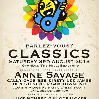Floor Jacker Parlez-Vous? Classic Electro Mix Sat 3rd Aug 2013 @ The Mill, Preston St, Bradford