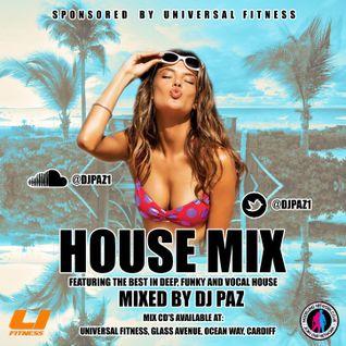 DJ PAZ PRESENTS: HOUSE MIX CD - SPONSORED BY UNIVERSAL FITNESS GYM