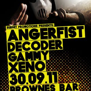 Xeno @ Subset Promotions Presents : Angerfist - Brownes Bar, Belfast - 30th September 2011