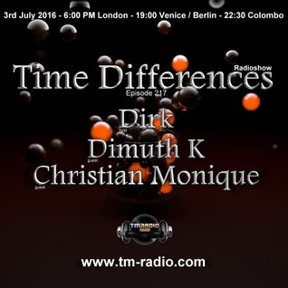 Christian Monique - Guest Mix - Time Differences 217 (3rd July 2016) on TM-Radio