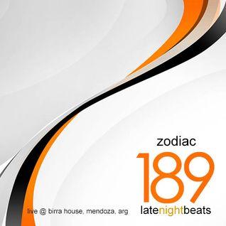 Late Night Beats by Tony Rivera - Episode 189: Zodiac (Live @ Birra House, MDZ, ARG)