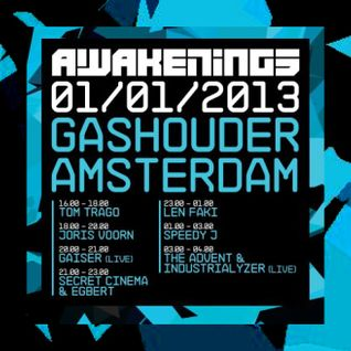 Secret Cinema & Egbert - Live @ Awakenings, Gashouder, Amsterdam (01-01-2013)