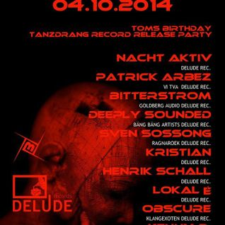 PATRICK ARBEZ liveact @ DELUDE LABEL NIGHT 04.10.14