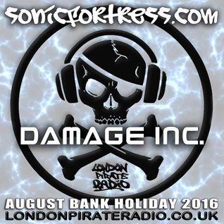 Damage Inc Live, August Bank Holiday 2016 www.londonpirateradio.co.uk