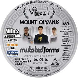 Vibez Promo Mix May 2014 - DJ RIKEN - Drum & Bass Mix