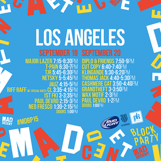 Diplo - live at Mad Decent Block Party 2015, Los Angeles (Day 2) - 20-Sep-2015