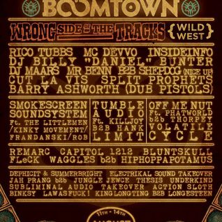 Boomtown Fair - Wrong Side of the Tracks stage - Mini promo mix