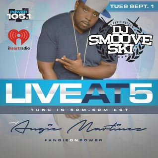 DJ SMOOVE SKI LIVE ON POWER 105.1FM WITH ANGIE MARTINEZ LIVE AT 5