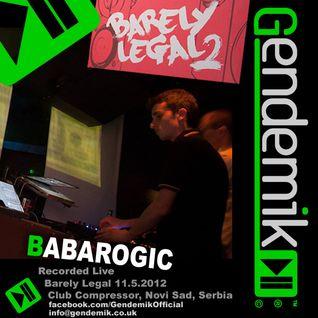 Babarogic (Gendemik) Live @ Club Compressor, Novi Sad, Serbia 11.05.2012