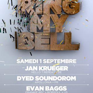 [_Ring_My_Bell_] - Jan Krueger, Dyed Soundorom, Evan Baggs @ Rex Club (paris) - 01-09-2012