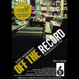 Off The Record - 14th March 2012 - Ray Juss