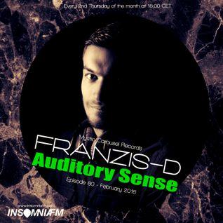 Franzis-D - Auditory Sense 080 @ InsomniaFm - Feb 11, 2016