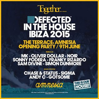 Franky Rizardo - Live @ Together & Defected in The House Opening Party, Amnesia Ibiza - 09.06.2015