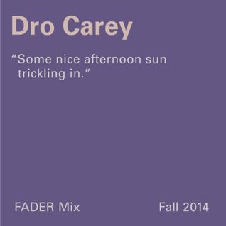 FADER Mix: Dro Carey