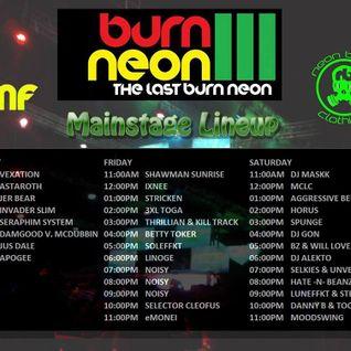 Horus Live @ Burn Neon 3 Mainstage